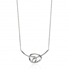 Fiorelli Silver Knot Necklace