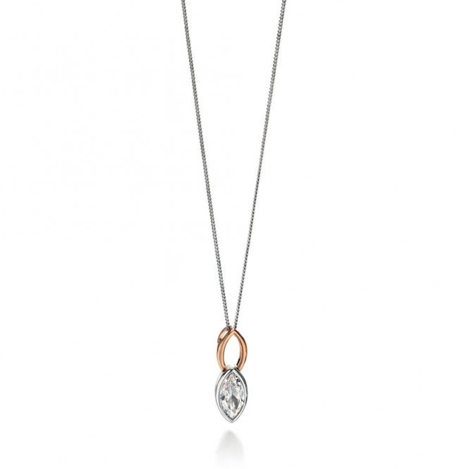 Fiorelli Two Tone Marquise CZ Necklace