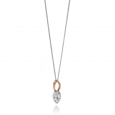 Two Tone Marquise CZ Necklace