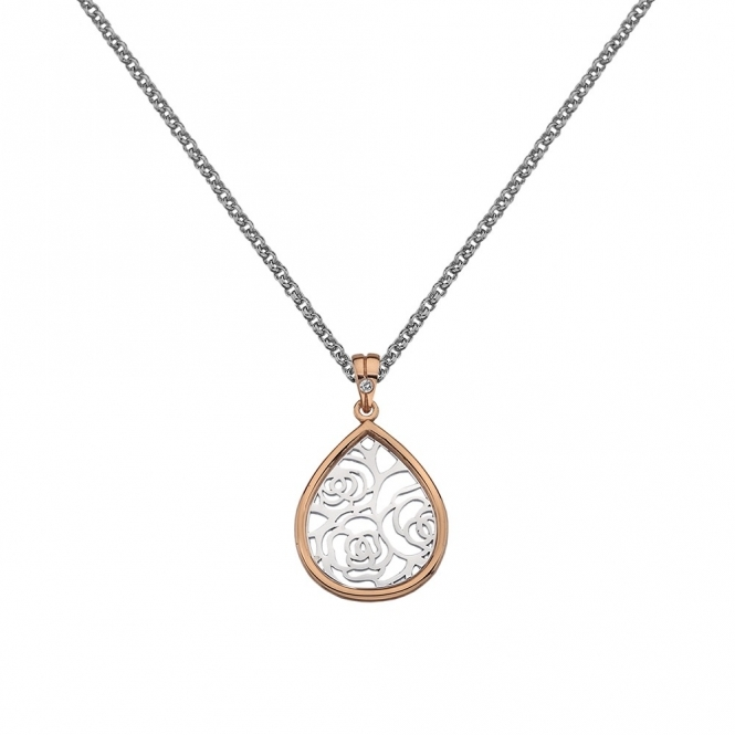 Hot Diamonds Faith Teardrop Pendant - Rose Gold Plated Accents