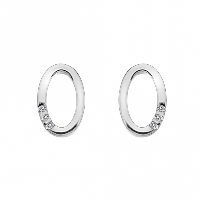 Hot Diamonds Halo Oval Earrings