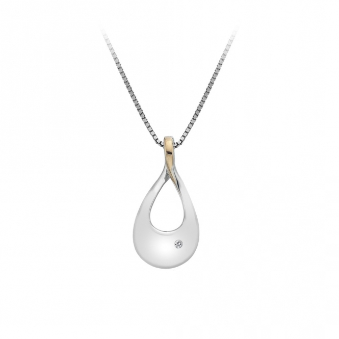 Hot Diamonds Journey Pendant - Rose Gold Plated Accents