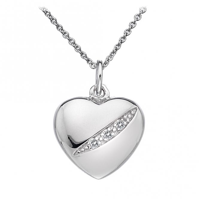 Hot Diamonds Shooting Stars Heart Pendant