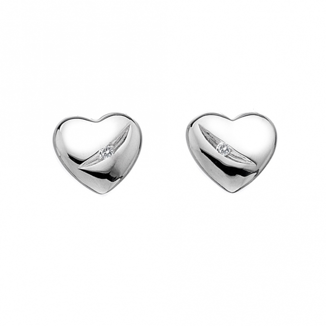 Hot Diamonds Shooting Stars Heart Stud Earrings DE322
