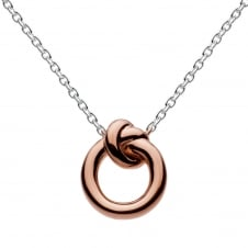 Rose Gold Plated Amity Knot Necklace 18""