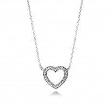 Loving Hearts of PANDORA Necklace 590534CZ-45