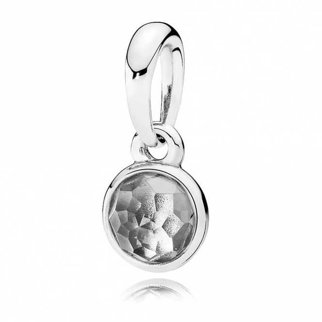 PANDORA April Droplet Pendant 390396RC