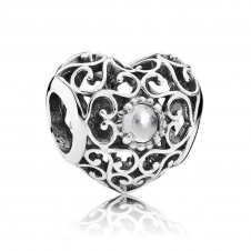 April Heart Birthstone Charm 791784RC