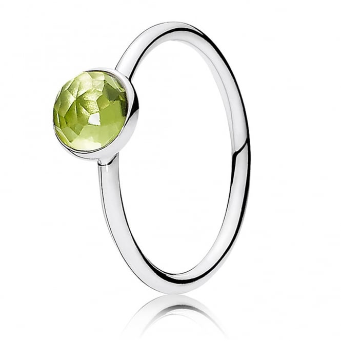 PANDORA August Droplet Birthstone Ring 191012PE