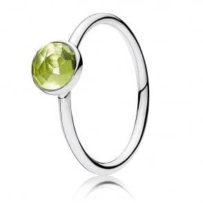 August Droplet Birthstone Ring 191012PE