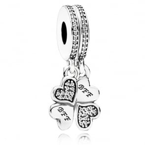 Best Friends Forever Pendant Charm 791949CZ