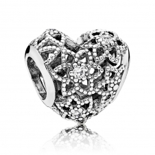 Blooming Heart Charm 796264CZ