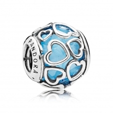 Blue Encased in Love Charm 792036NBS