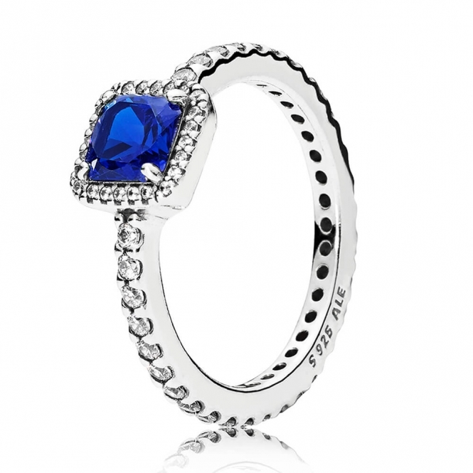 PANDORA Blue Timeless Elegance Ring 190947NBT