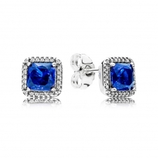 Blue Timeless Elegance Stud Earrings 290591NBT