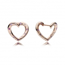Bright Hearts Hoop Earrings 287231NRPMX