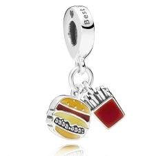 Burger and Fries Pendant Charm 797211ENMX
