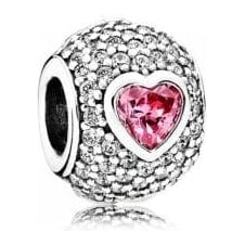 Captivating Pave Heart Charm 791815CZS
