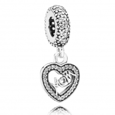 Centre of My Heart Pendant Charm 791521CZ