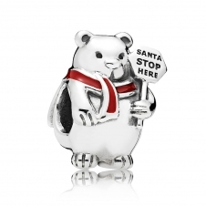 Christmas Polar Bear Charm 796466EN39