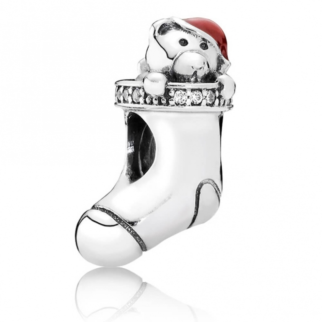 PANDORA Christmas Stocking Charm 791773CZ