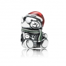 Christmas Teddy Bear Charm 791391ENMX