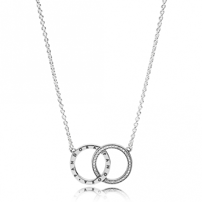PANDORA Circles Necklace 396235CZ-45