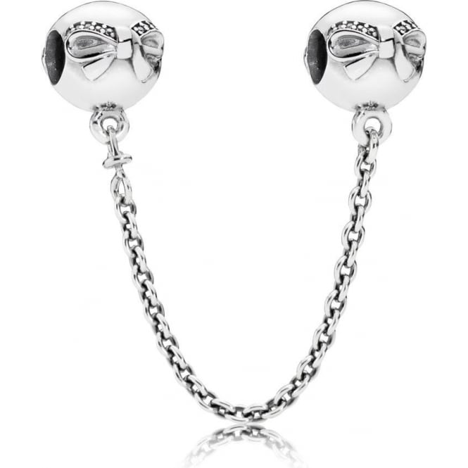 PANDORA Dainty Bow Safety Chain 791780CZ