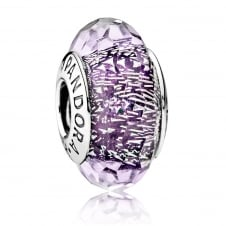 Dark Purple Shimmer Murano Charm 791663