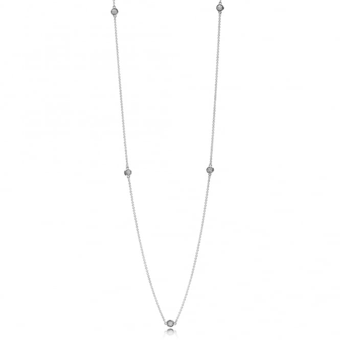 PANDORA Dazzling Dainty Droplets Necklace 590525CZ-80