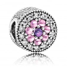 Dazzling Floral Charm 791820PCZMX