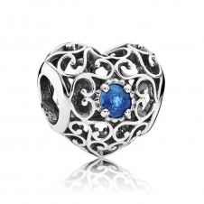 December Heart Birthstone Charm 791784NLB