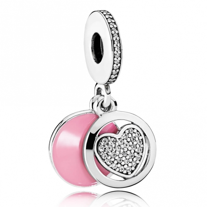 PANDORA Devoted Heart Pendant Charm 792149EN24