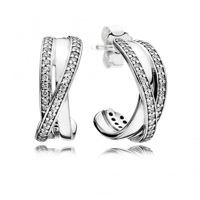 PANDORA Entwined Hoop Earrings 290730CZ