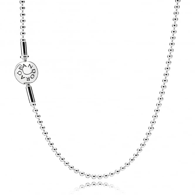 PANDORA ESSENCE Beaded Silver Necklace 596005-80