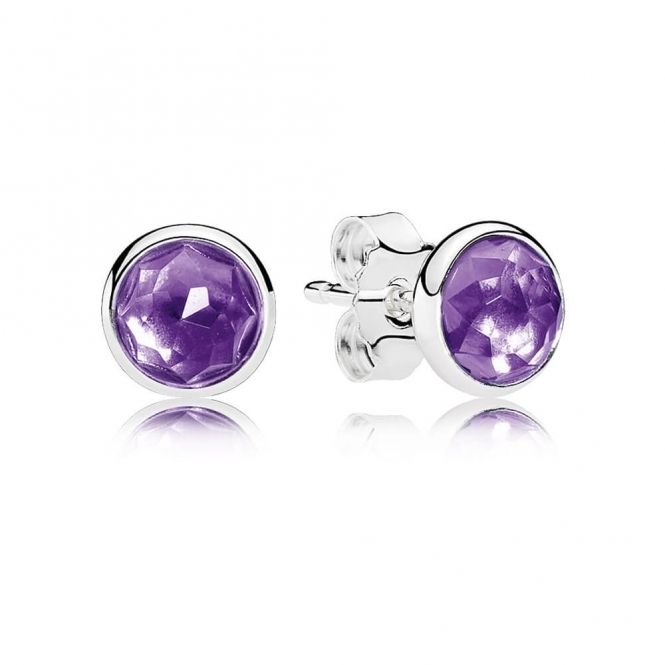 PANDORA February Droplets Stud Earrings 290738SAM
