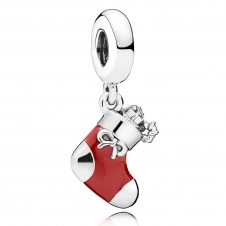 Festive Stocking Pendant Charm 796387EN39