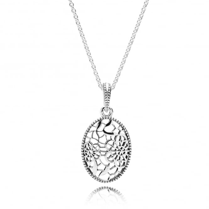 PANDORA Floral Daisy Lace Necklace 390383-60