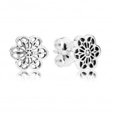 Floral Daisy Lace Stud Earrings 290692