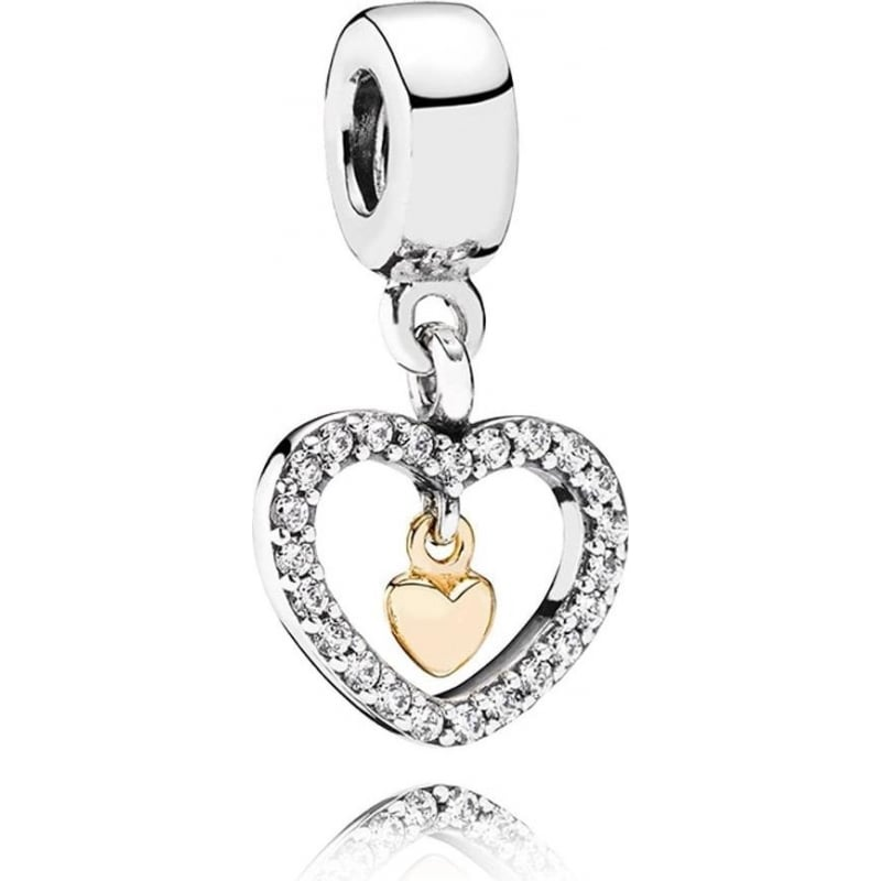 Pandora Forever In My Heart Pendant Charm 791421cz From