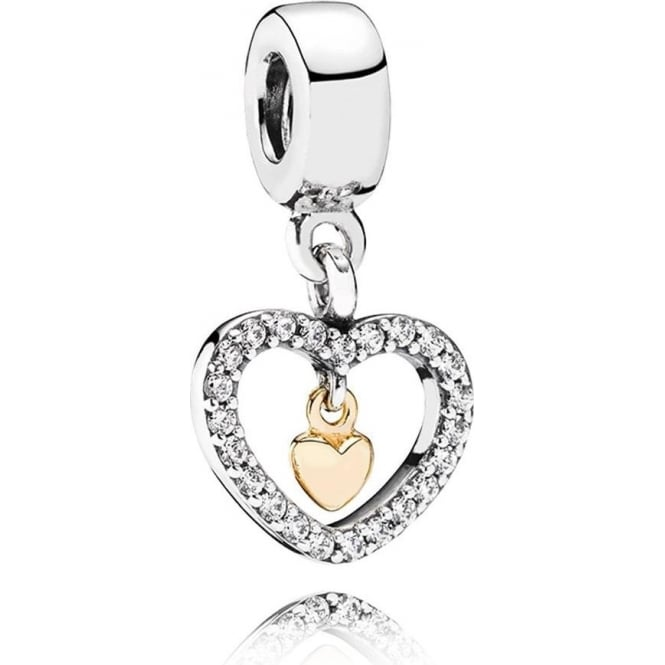 PANDORA Forever in my Heart Pendant Charm 791421CZ