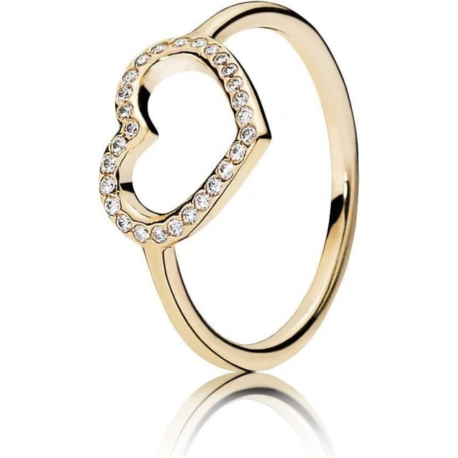 PANDORA Gold Captured Heart Ring 150179CZ
