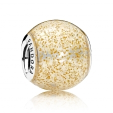 Golden Glitter Ball Charm 796327EN146