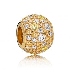 Golden Mix Pave Ball Charm 767052CSY