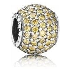 Golden Pave Ball Charm 791051FCZ