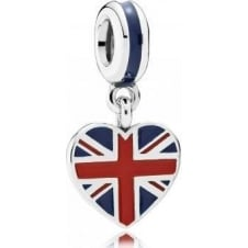 Great Britain Heart Flag Pendant Charm 791512ENMX