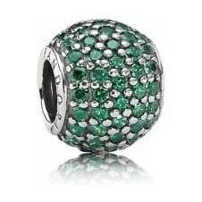 Green Pave Ball Charm 791051CZN