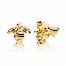 Heart and Bee Stud Earrings 267071
