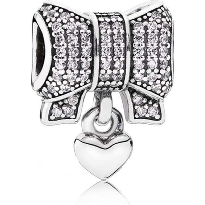 PANDORA Heart and Bow Charm 791776CZ