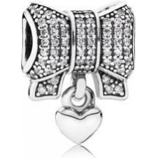 Heart and Bow Charm 791776CZ